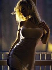 Beautiful girl stranger in transparent..