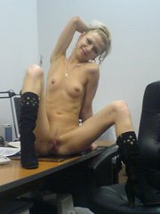 Slim teen sluts posing in office and..