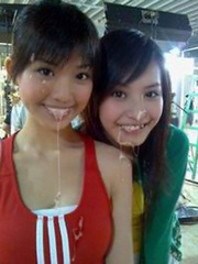 Two thai chicks in sperm and more hot..
