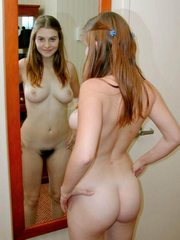 Amazing young girlfriends show tits at..