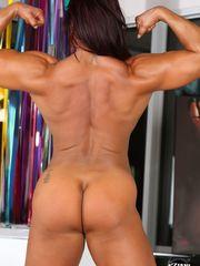 Mature dame bodybuilder Amber Deluca..