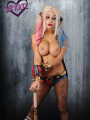 Liz Katz Hey Puddin Harley Quinn Set..