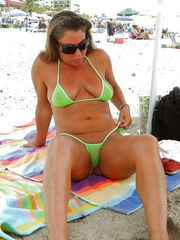 Mature swimsuit beach 6 -