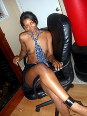 Horny ebony sweetie taking humid and..