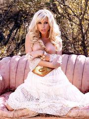 Glistening blondie Angie Savage nude seth