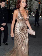 Amy Childs showing humungous bosom..