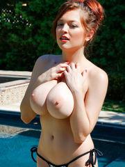 Tessa Fowler In Silver String Bathing..