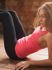 Young woman chick stretching images..