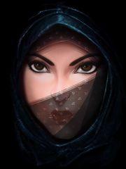 Arabic eyes  (2d, portrait, concept..