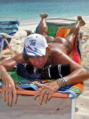 Naturists of Spain, an open beach,..