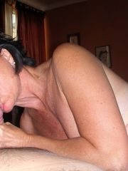 Busty mature wife in stocking doing..