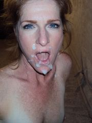 in gallery Cougar Wife Facial cumshot..