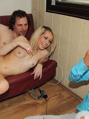 crazyamateurgirls - Lucky elderly stud..
