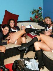 girl/girl group bang, stunner Tory Lane