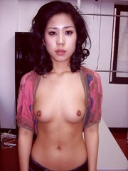 Korean Tutor Shows Her Puffy Melons..