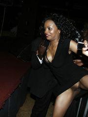 Nude afro sluts flashing their ebony..