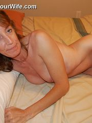 Bony lusty grannie Tracy loves to..