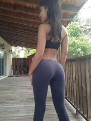 Tight asses in tight yoga trousers -  -..