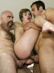 Claire Robbins gets double-penetrated..