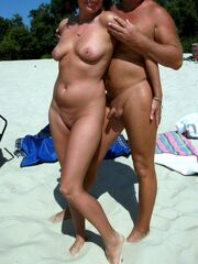 Gal exhibitionists and naturist couple,..