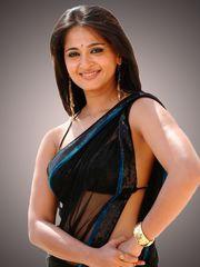 Anushka Shetty in ebony saree south..