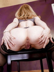 Nina Hartley-Black Stocking & Mule..