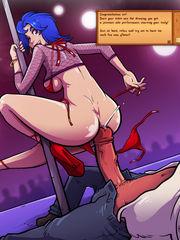 Emily moonlighting as a stripper..