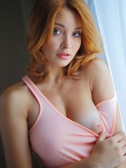 Beautiful RedHead Honey with Green Eyes..