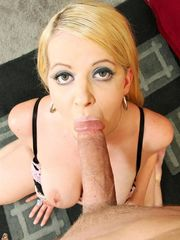 Anita Blue gets on her knees and..