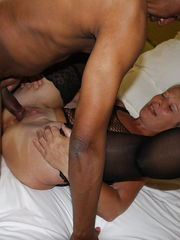 Cougar fucked  by dark-hued wood - Mummy