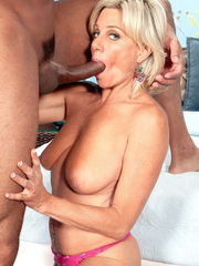 Wondrous Blond Mummy  Big black cock -..