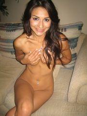 skinny latina bare selfie chick..
