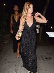 Chanel West Coast Arriving at the Basic..