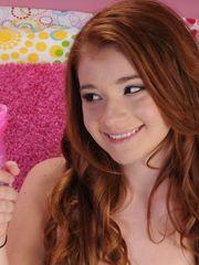 redhead coed Ava Sparxxx at ATK Models