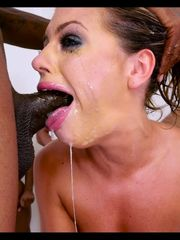 Roxy 3 messy jizm bitch creampied from..