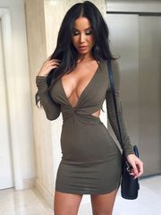 Women Bandage Massive V Hot Sundress..