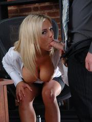 horny Bree likes inhaling lollipop at..