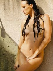 American swimmer Amanda Facial hair..