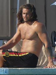 Jason Momoa Heads Shirtless in Venice..