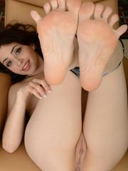 Simply matchless feet soles stretched..