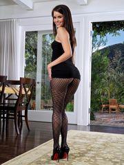 Pretty glamour model Salena Storm..