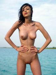 Mind-blowing dolls sunbathing nude on..