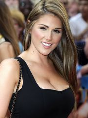 Lucy Pinder showing meaty bosom in..
