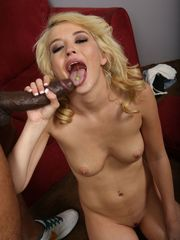 Slender babe Tiffany Fox gets bi-racial..