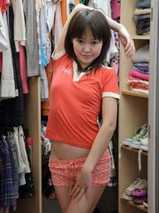 Chinese teenager in milky stockings...