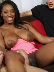 This large boobed ebony mega-slut is..