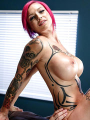 Inked ginger-haired Mummy Anna loosing..
