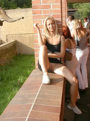 Sugary college girl ambling nude in the..