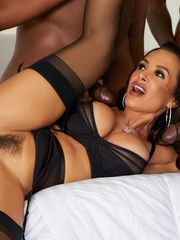 Interracial group-fucked huge-titted..