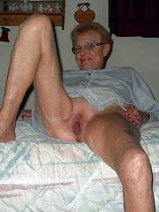 Dissolute grandmas showing their still..
